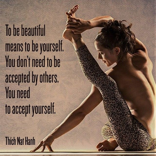 "Accept yourself! Check out ""Yoga Academy"", our yoga app for iOS and Android - Available on iTunes, Google Play and Amazon - http://globalyogaacademy.com/yoga-app"