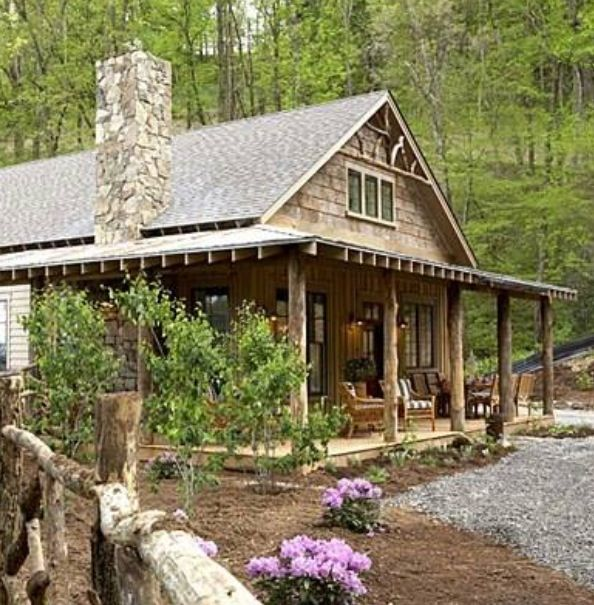 Cute cabin turns out is is actually a modular home for Cottage builders nc