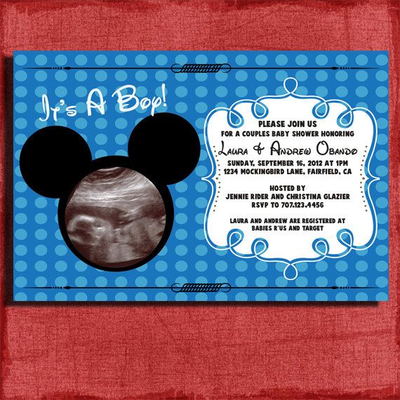 mickey mouse baby shower invite