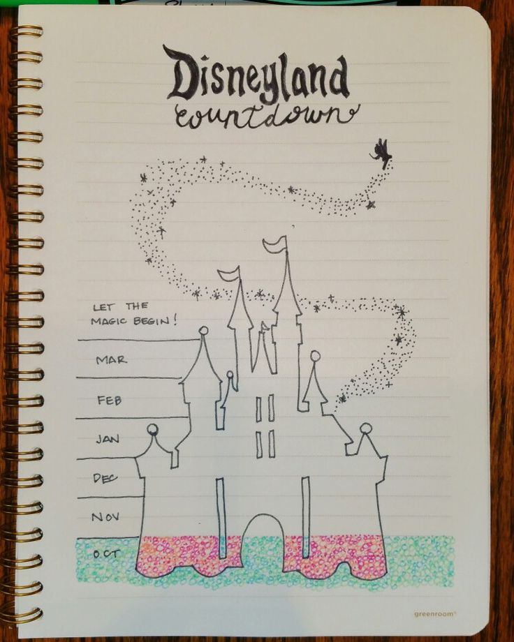 My bullet journal Disneyland countdown. Can't wait for the trip and now can't wait to color!