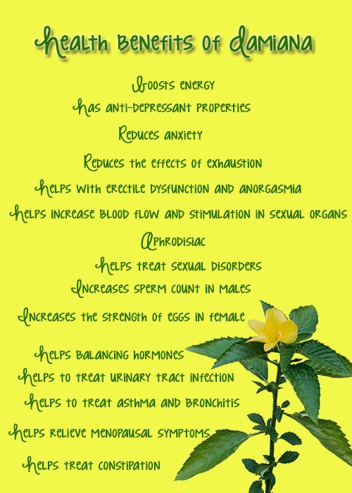 Health benefits of Damiana