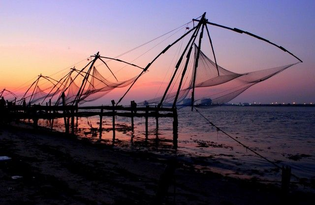 Chinese fishing net at Kochi