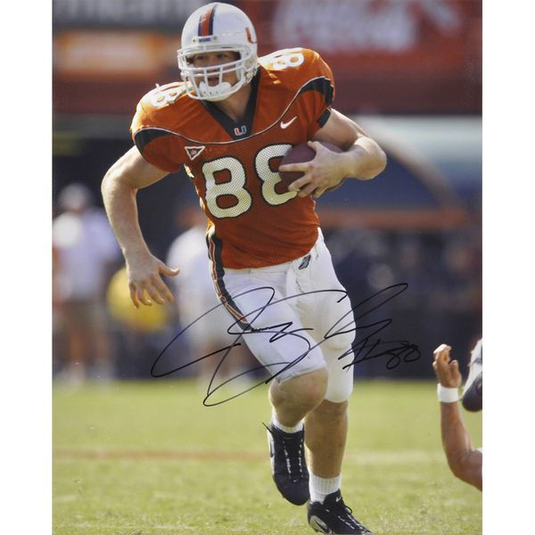 "Jeremy Shockey Miami Hurricanes Fanatics Authentic Autographed 16"" x 20"" Running Photograph - $99.99"