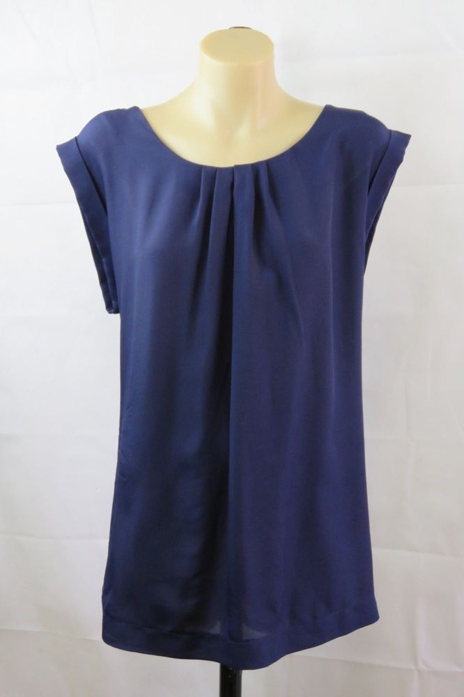 79beaaf3bf5 Size XL 16 Ladies Blue Top Tunic Blouse Business Casual Chic Nautical Design  #LimitedEdition #