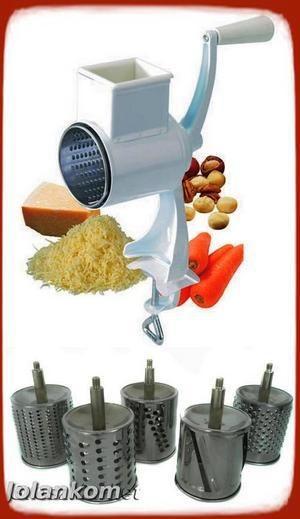 Maszynka do tarcia bakalii, orzechów, sera, czekolady, ziemniaków itp - bardzo przydatne urządzenie w kuchni