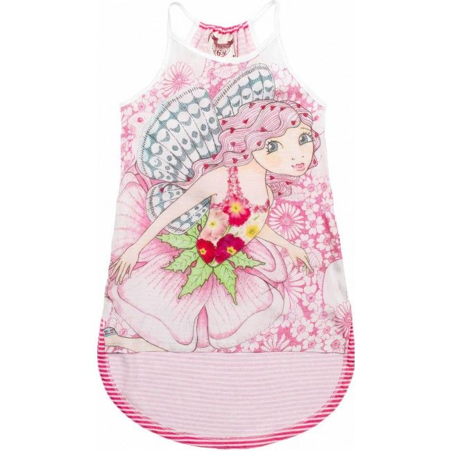 Racer Back Singlet Dress - Pink Fairy