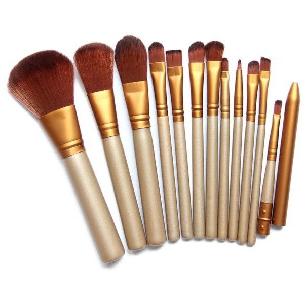 12 Pcs Facial Makeup Brushes Set (14 BAM) ❤ liked on Polyvore featuring beauty products, makeup, makeup tools and makeup brushes
