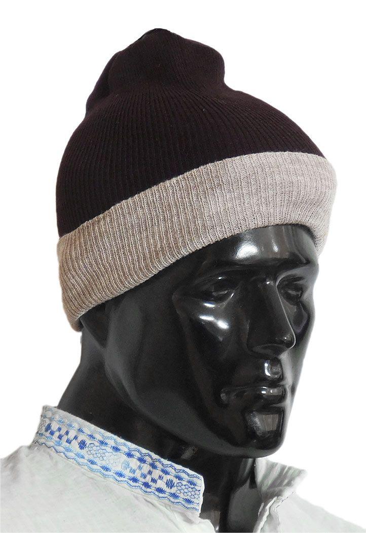 Dark Brown Gents Woolen Beannie Cap (Woolen)