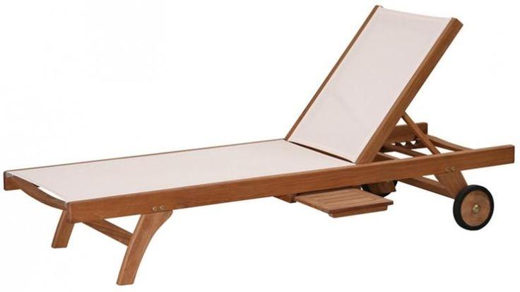 bain de soleil classique en teck et batyline 200 cm tek import se relaxer. Black Bedroom Furniture Sets. Home Design Ideas