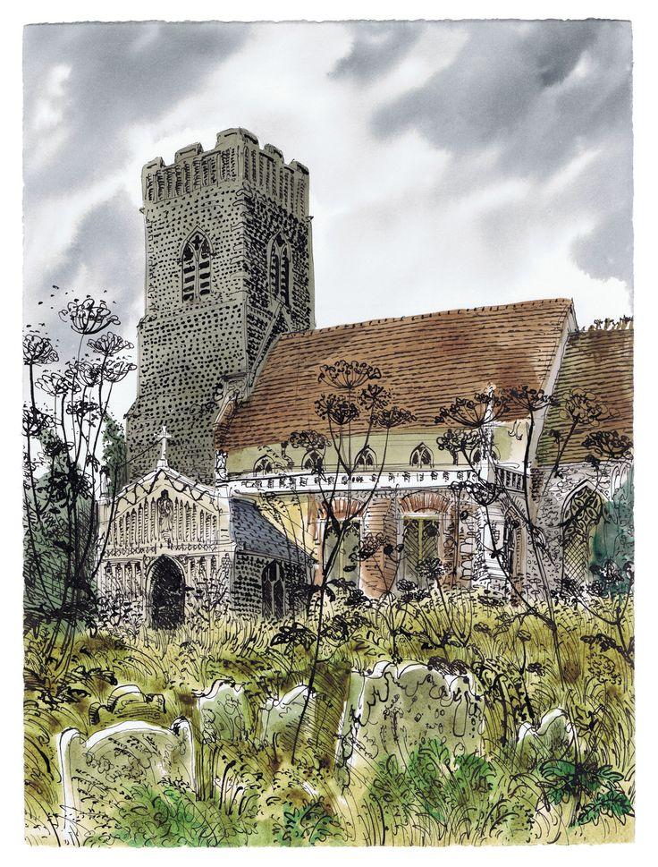 David Gentleman - Huntingfield Church