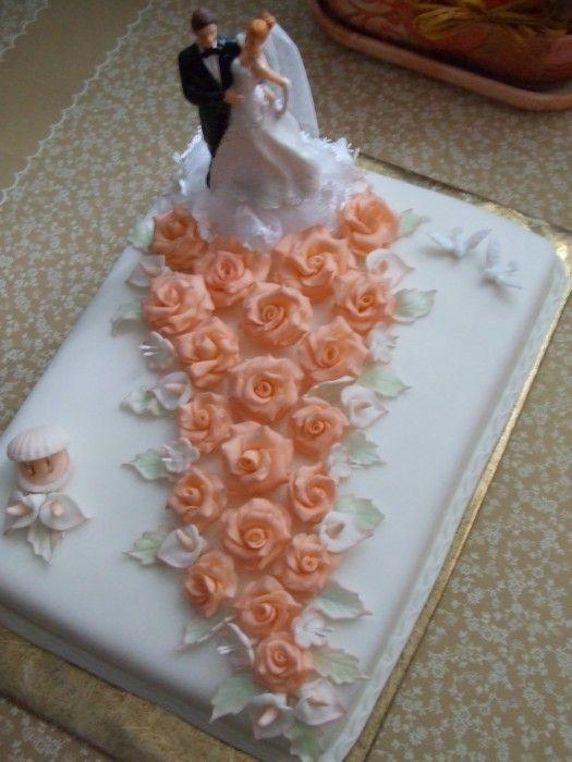** Dort svatební - cesta z růží **