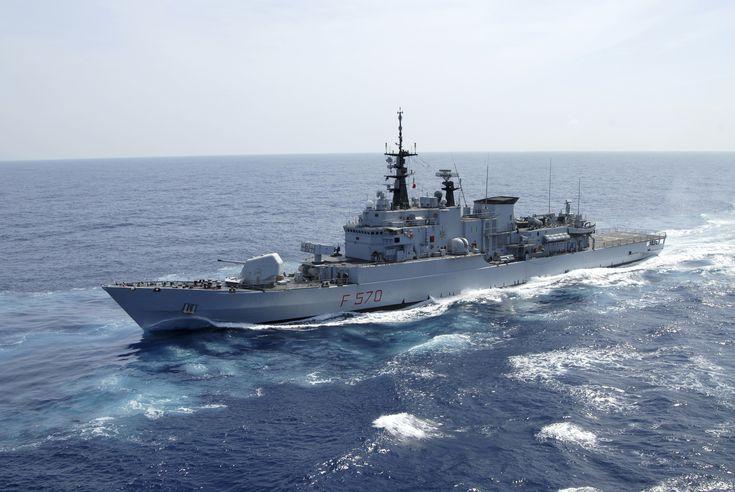 Italian Navy frigate Maestrale.