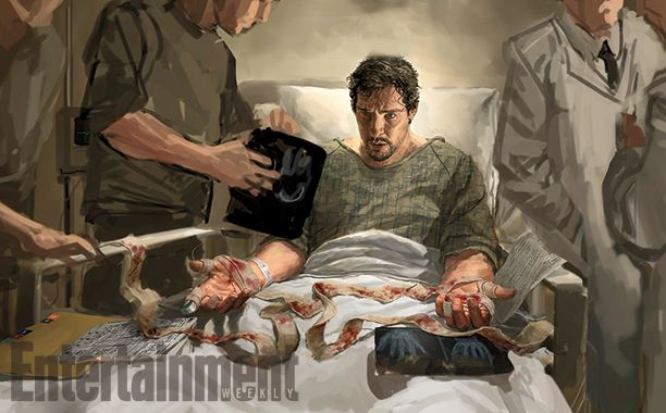 Concept art de Doctor Strange avec Benedict Cumberbatch
