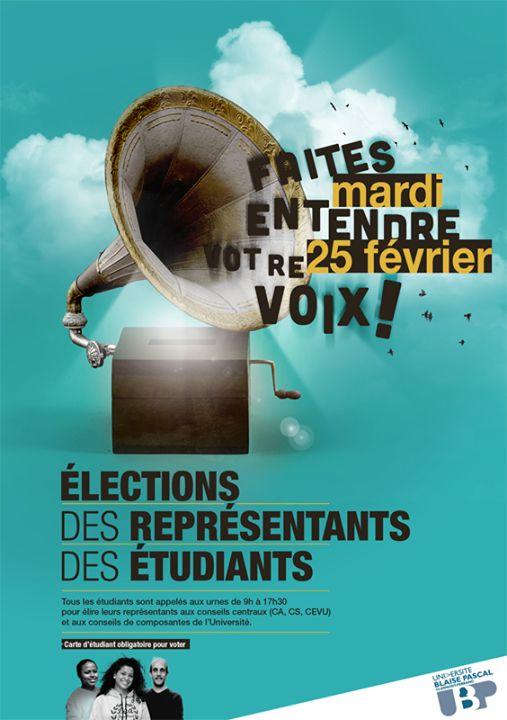 élections étudiantes - université Blaise Pascal - UBP