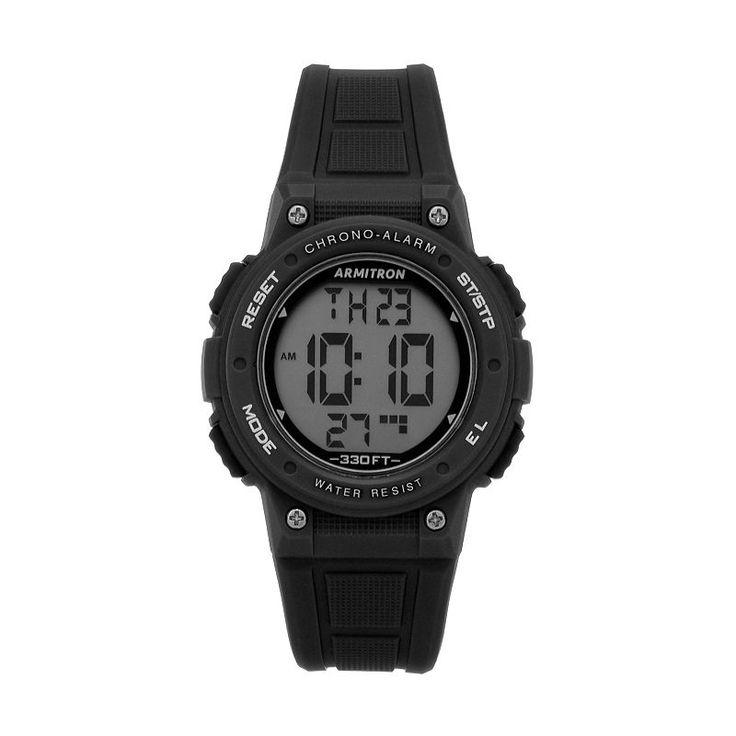 Armitron Women's Digital Chronograph Sport Watch, Size: Large, Black