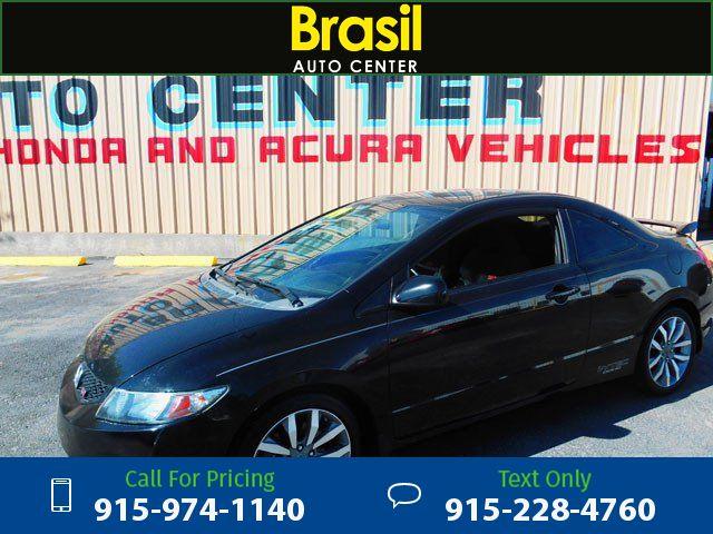 2009 Honda Civic Si Coupe 6-Speed MT Black $9,500 129160 miles 915-974-1140  #Honda #Civic #used #cars #BrasilAutoCenter #ElPaso #TX #tapcars