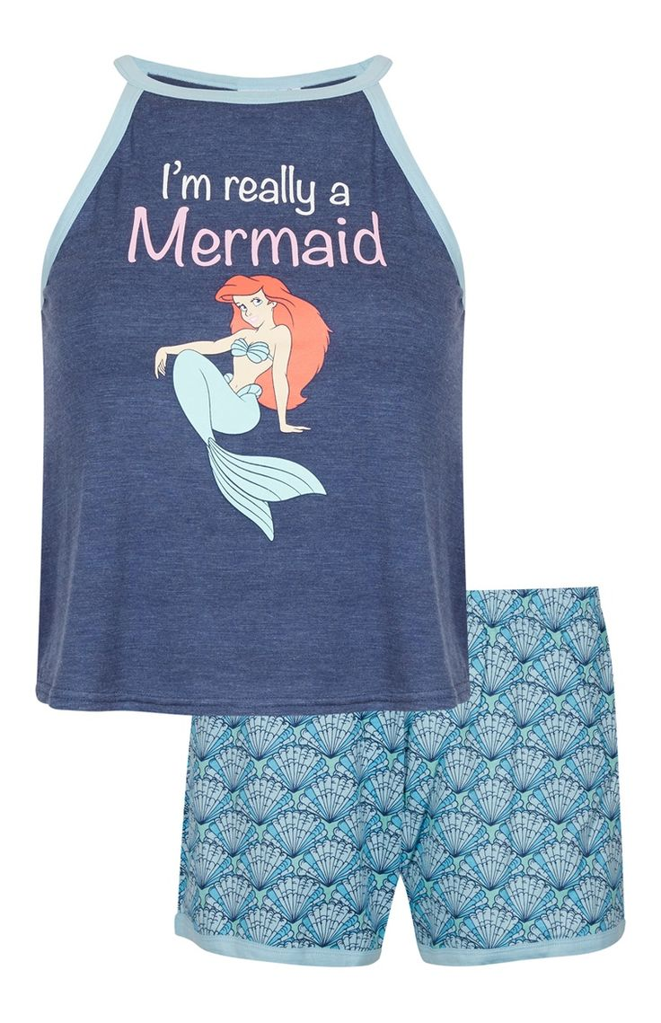 Primark - Pijama com top de alças Disney Mermaid