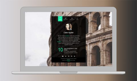 Free One Page Website HTML Template - Personal is a free to download html5 bootstrap website template that is good for resume and vcard templates. It has a smooth fade in and fade out effect upon clicking the tab menu.