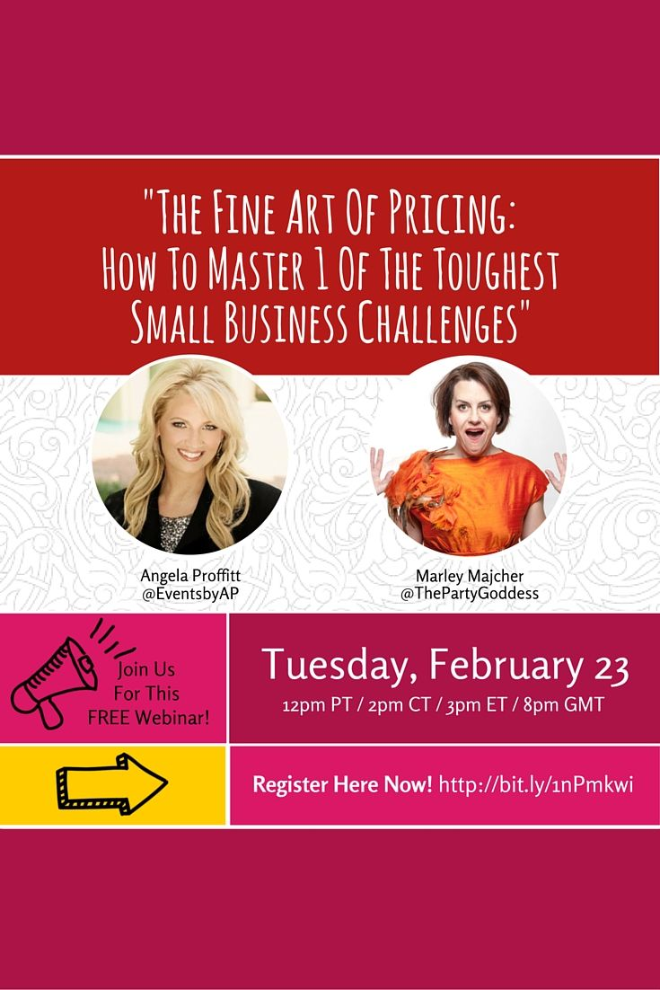 How about a FREE #pricing webinar that will teach you How to Stop Cutting Your Prices & Charge What You're Worth? #EventProfs and #Entrepreneurs can't afford to miss it! Register to here: http://theprofitgoddess.com/am-webinar-4-sign-up-page/