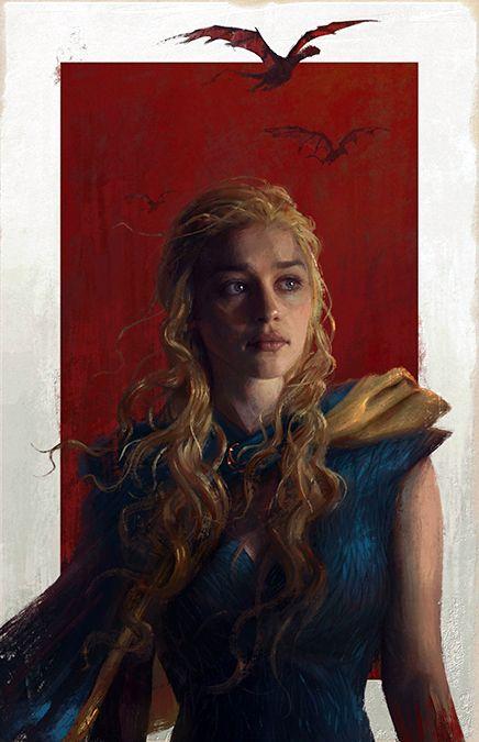 Remarkable 'Game of Thrones' Illustration of Daenerys Targaryen by Sam Spratt