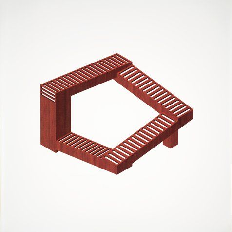 Simon Ungers, Speaking Architecture [Museum isometric], 2000; inkjet print on paper | Source: San Francisco Museum of Modern Art