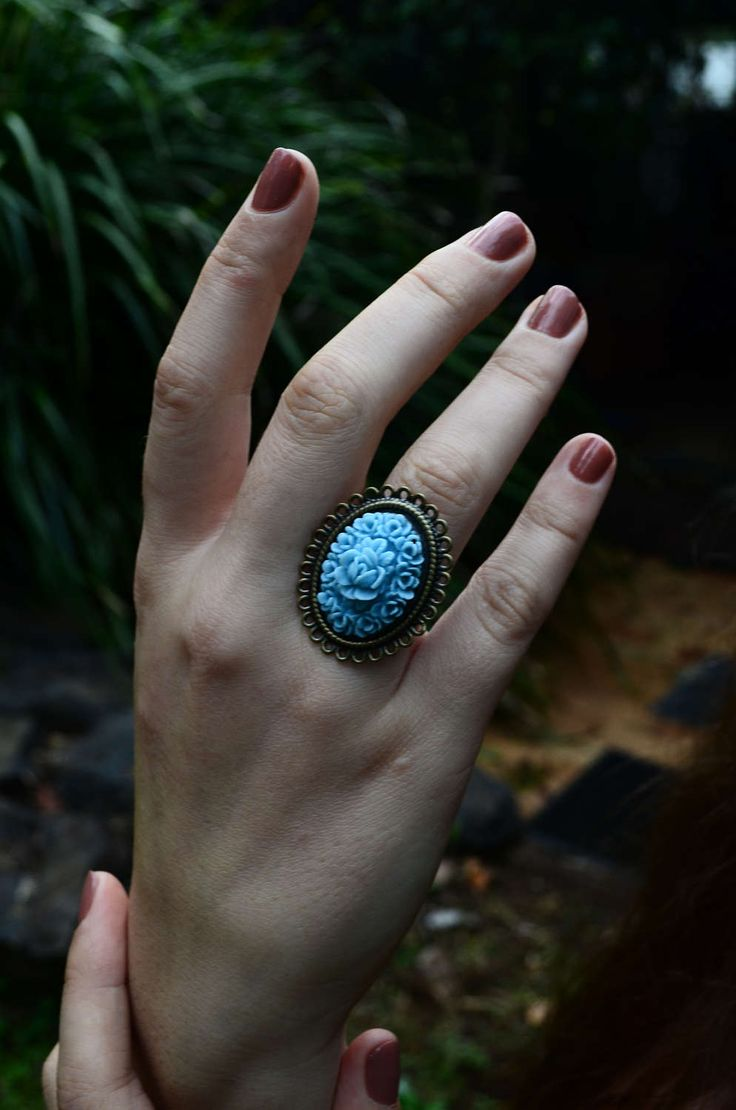 Romantic Floral Vintage Ring | Artisan Jewellery | Bohemian Luxe Style | Statement Ring | Handmade by Ghost and Lola | Gift for her | Retro by GhostandLolaBoutique on Etsy