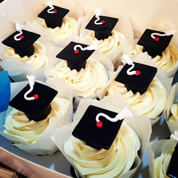 cupcakes para graduacion