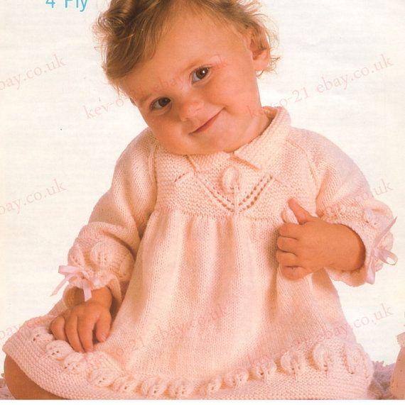 Knit Angel Top Vintage Pattern Baby Dress Knitting