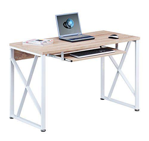 Mesa de ordenador Roble/Blanco Óptica madera S-349/1851 - http://vivahogar.net/oferta/mesa-de-ordenador-robleblanco-optica-madera-s-3491851/ -