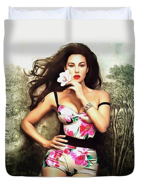 Monica Bellucci Duvet Cover by Galeria Zullian  Trompiz