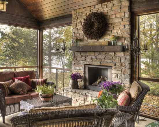 10 Best Ideas About Fireplace On Porch On Pinterest