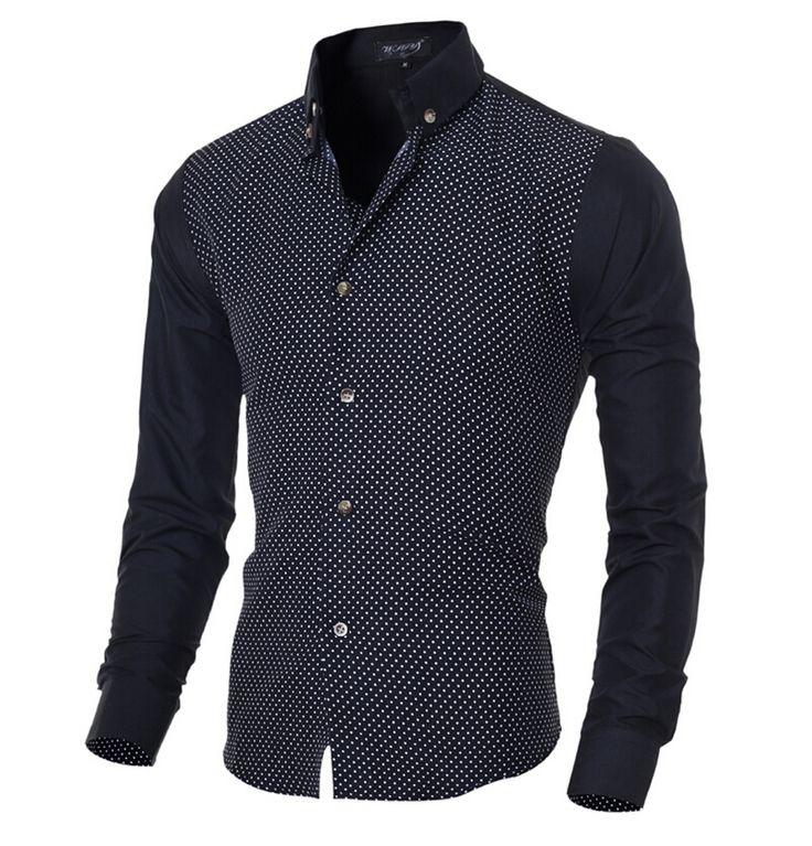 Camisa de Mezclilla de Moda para Hombre Tops Jeans Blusa Camiseta Casual Slim Fit Business Spring Autumn tee tvcyVB