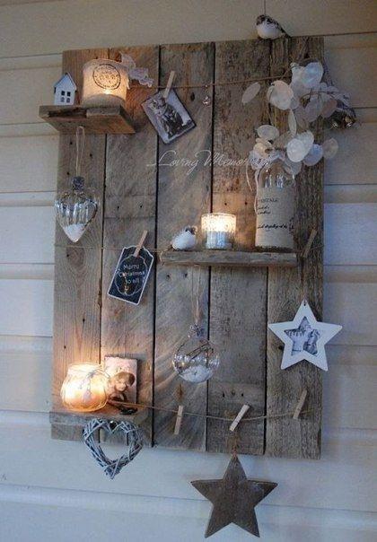 7 Adornos para la pared con tablas de madera