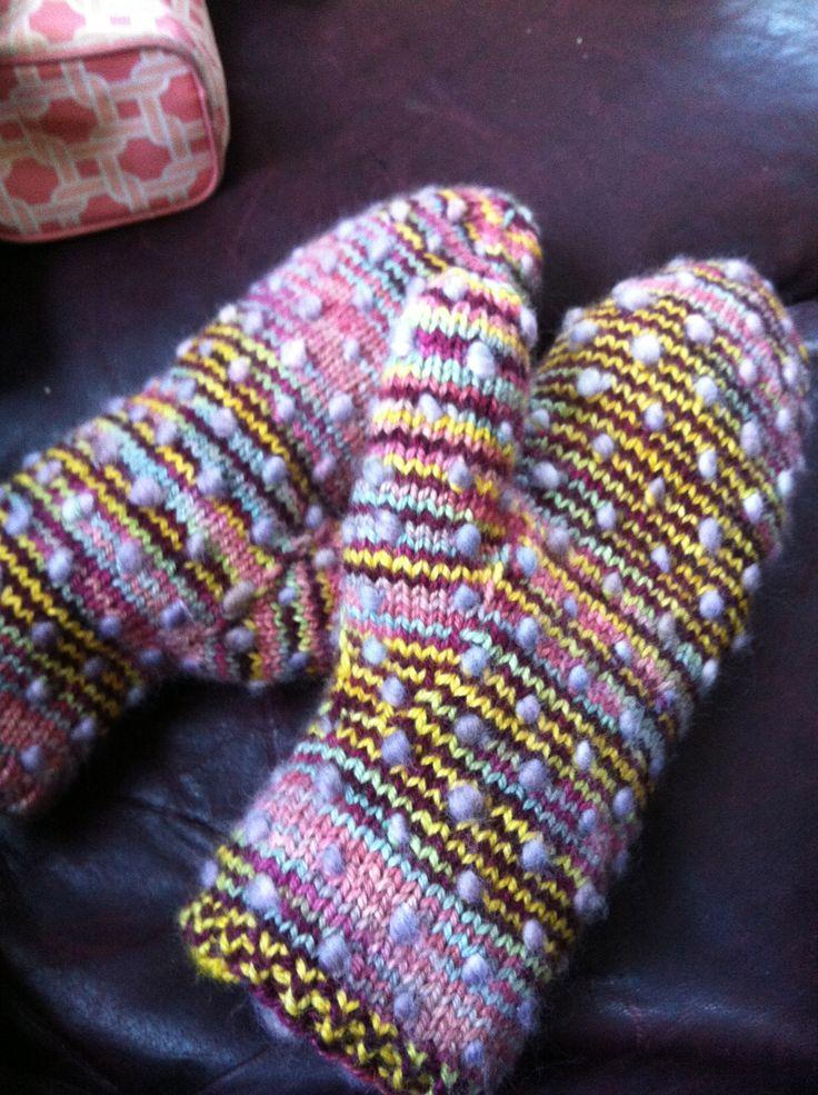 Thrum mittens, made for a dear friend