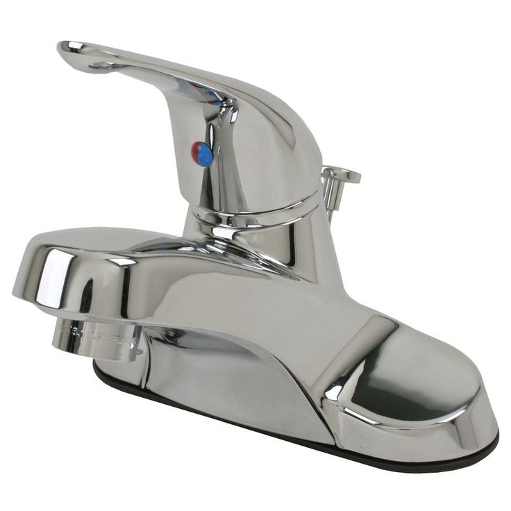 Ultra Faucet 4 in. Centerset Single-Handle Bathroom Faucet in Chrome (Grey)