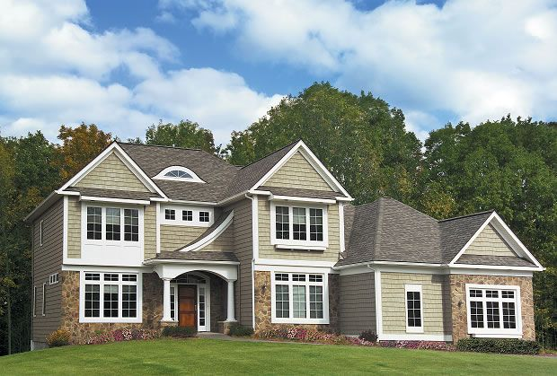 Love This Color Combination For The Exterior Of Home Vinyl Siding House Siding Options Vinyl
