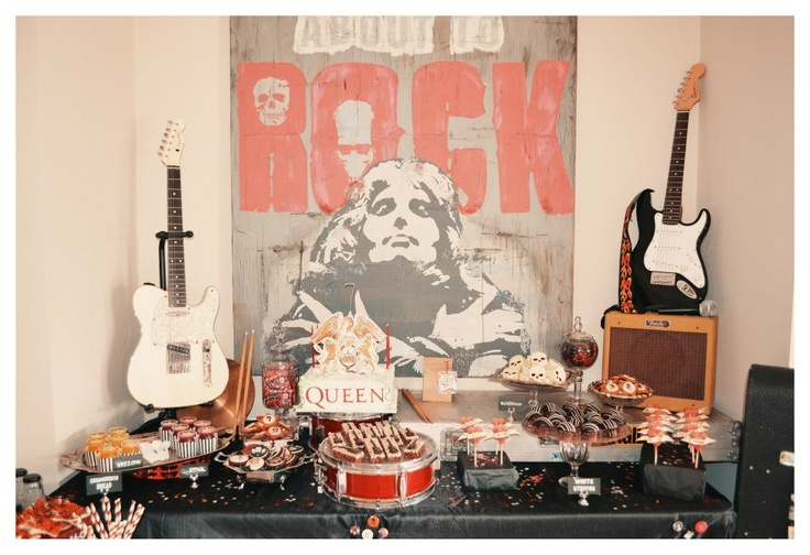 Rock n Roll sweets table.