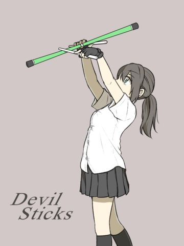 Devilstick - bicycle trick
