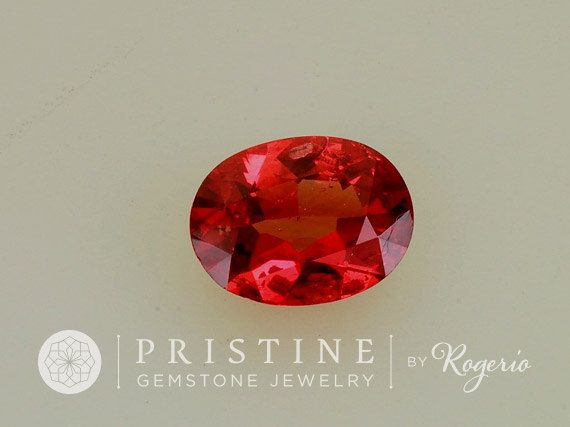 Red Spinel Oval Precision Cut Fine Loose by PristineGemstones
