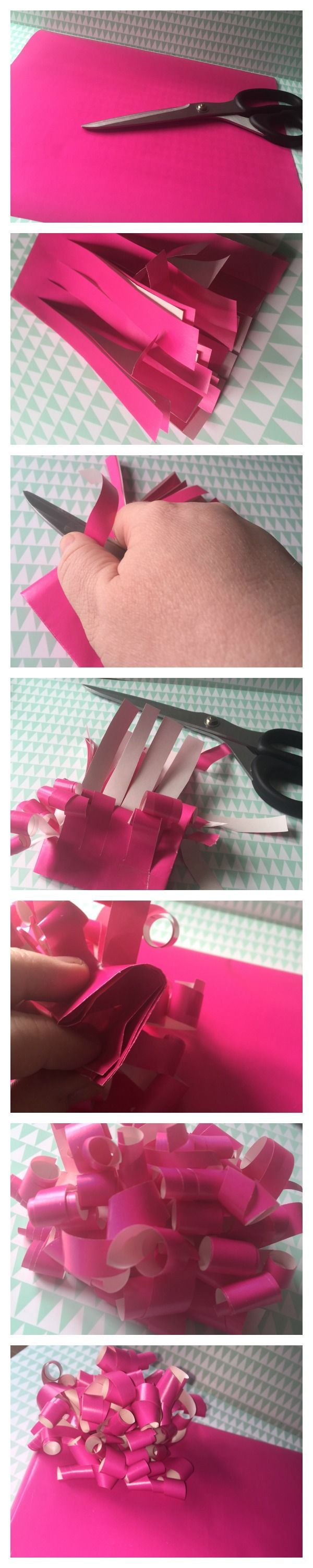 How to make a bow from leftover wrapping paper