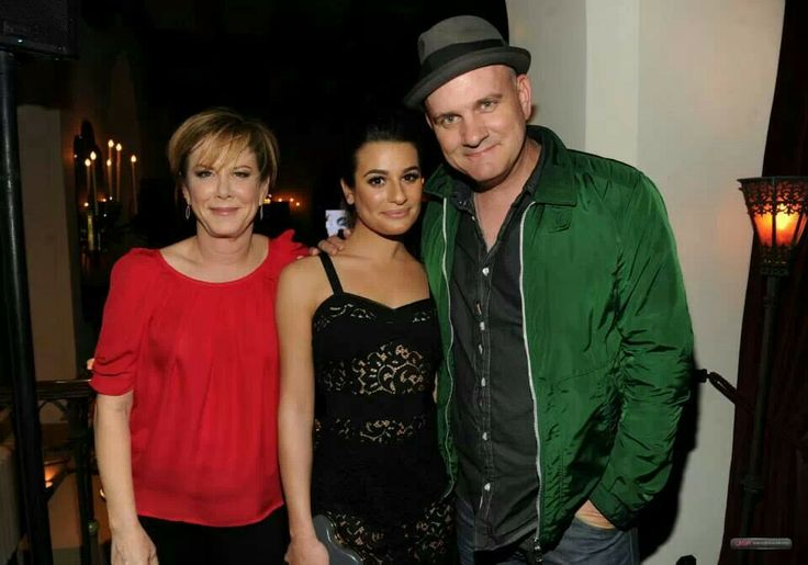 Romy Rosemont, Lea Michele and Mike O'Malley : Glee 100th Celebration