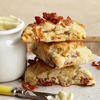 Bacon and Dried Tomato Scones