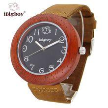 iBigboy Quartz Men Women Wooden Watch Nature Wood Watches Elegant Fashion Ladies Casual Wristwatch Relogio Feminino Hour Clock(China (Mainland))