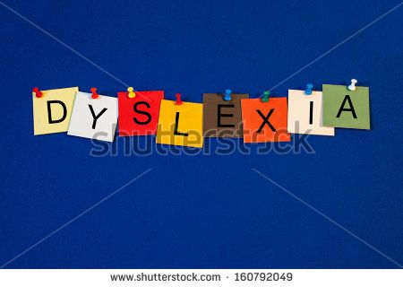 Dyslexia - sign series for medical health care - stock photo