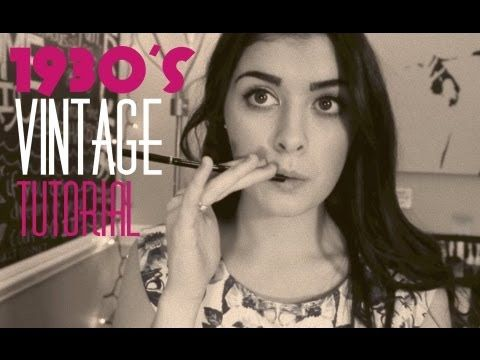 Vintage Makeup Tutorial & Tips (1930s inspired)- this is really cool!