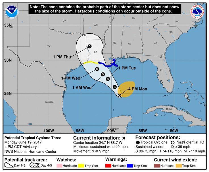 Potential Tropical Cyclone THREE - Forecast Cone for Storm Center - https://blog.clairepeetz.com/potential-tropical-cyclone-three-forecast-cone-storm-center/
