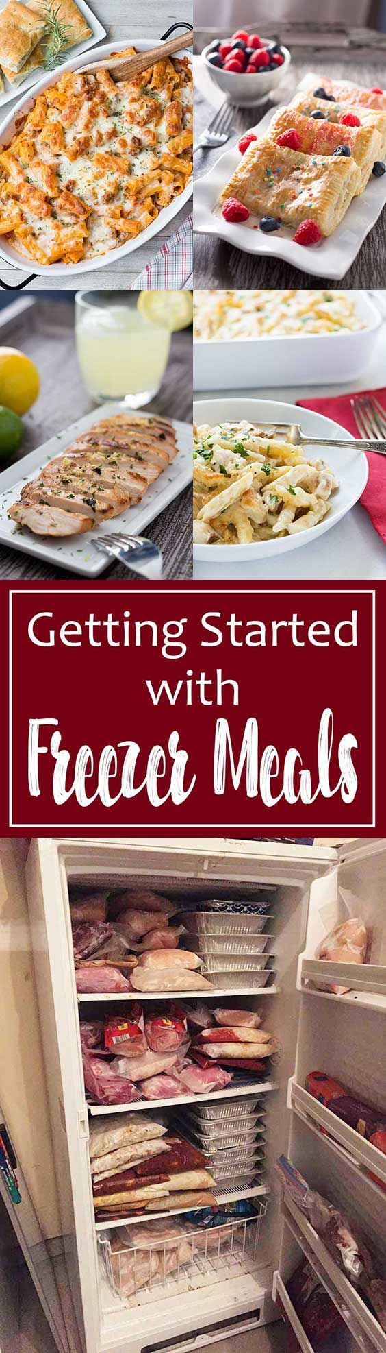 Getting Started with Freezer Meals | Freezer meals can help you save time and money (and your sanity) in the kitchen! Let me share with you what I've learned over the last 14 years of doing freezer meals, so you can get started doing freezer meals too! #freezermeals #makeahead #freezerfriendly #easydinner