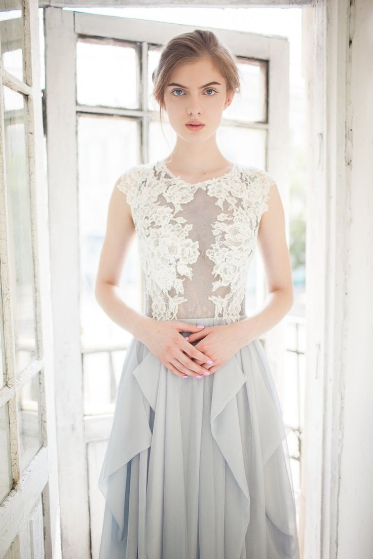 17 best images about wedding colours dove grey on pinterest the lace on this dress is stunning love the skirt in a bluish grey dove grey wedding ombrellifo Gallery