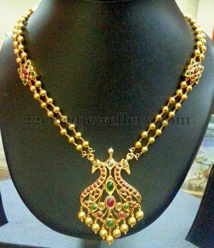 Simple Temple Set by Ganesh Jewellery | Jewellery Designs