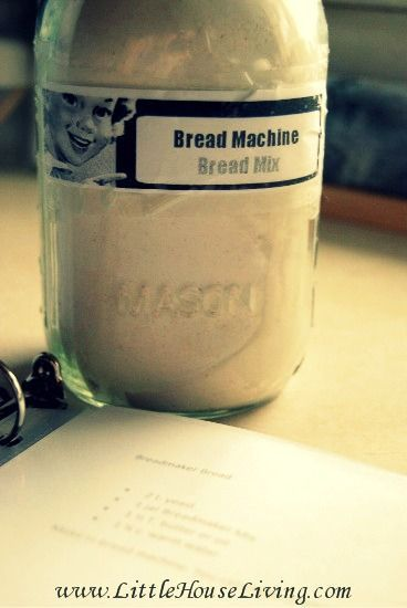 Make your own homemade mix for bread for your bread machine! This recipe makes 4 loaves of bread and is so simple! Just pour in your machine and press bake, fresh bread!